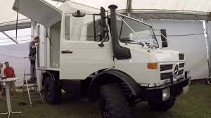 mercedes truck white mercedes benz unimog expedition service camper truck walkaround