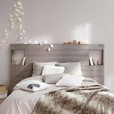 guirlande lumineuse d馗o chambre chambre blanche et taupe déco chambre cocooning cosy lambris