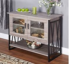 amazon com buffet storage cabinet in reclaimed wood distressed