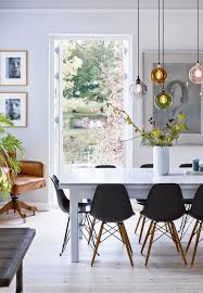 Beautiful Dining Room Tables Scandinavian Dining Room With Beautiful Flowers And Branches From