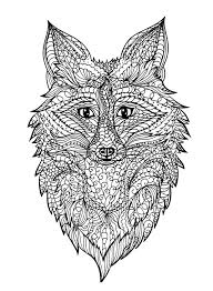 zentangle fox head stock vector image 71179036