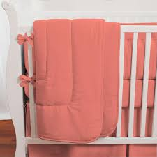 Coral Nursery Bedding Solid Coral Crib Bedding Crib Bedding Carousel Designs