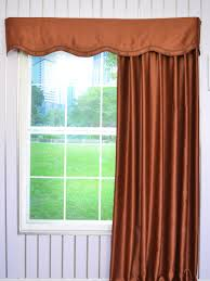 Solid Color Valances For Windows Swan Solid Brown Color Fake Layered Wave Window Valance And Curtains