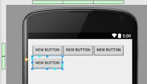 android studio button using the android gridlayout manager in android studio designer