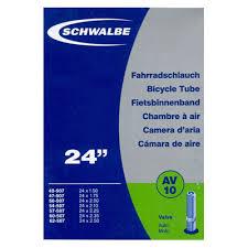 chambre à air éaire schwalbe av10 chambre air vélo 24 pouces valve schrader