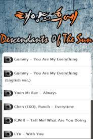descendants of the sun lyrics apps on play