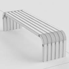 3d Bench Bench B01 Whitegekko