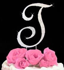 completely covered swarovski crystal wedding cake topper