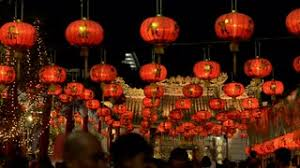 lanterns new year new year lanterns in chinatown stock footage
