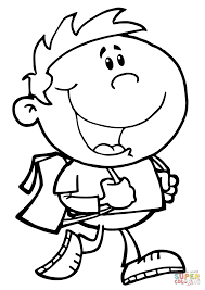 coloring pages boy