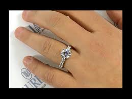 2 carat solitaire engagement rings 2 ct engagement ring with large pave diamonds
