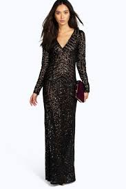 boohoo clothing boohoo boutique sequin mesh maxi dress christmas party