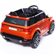 orange range rover mini hse range rover style electric 12v child u0027s ride on jeep