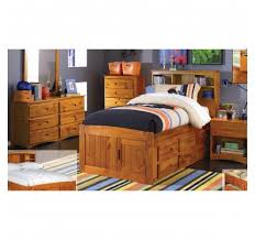 one honey full captains bed u0026 one nightstand u0026 one 5 drawer chest