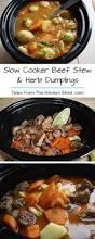 Stew Ideas Slow Cooker Beef Stew U0026 Herb Dumplings Tales From The Kitchen Shed