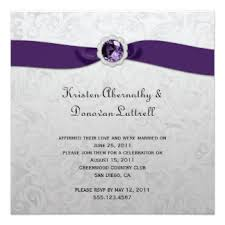 Purple And Silver Wedding Invitations Wedding Invitations With Purple Ribbon Tbrb Info