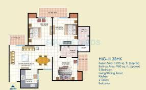 1300 sq ft apartment floor plan 3 bhk 1300 sq ft apartment for sale in mahagun mahagunpuram at