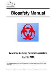 biosafety manual final 5 20 pathogen toxin