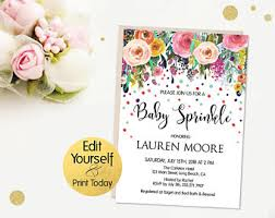baby sprinkle invitations sprinkle invitation etsy