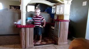 Step2 Party Time Kitchen by Step2 Grand Walk In Kitchen U0026 Grill Playset In Action Youtube