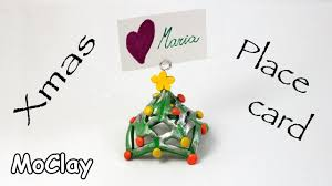 place cards diy diy christmas place card polymer clay tutorial youtube