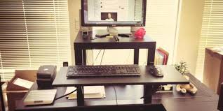 Standing Height Desk Ikea by This 22 Standing Desk Is The Ultimate Ikea Hack Huffpost