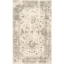 Faded Persian Rug by Darron Persian Vintage Grey 7 Ft 6 In X 9 Ft 6 In Area Rug