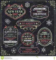 christmas chalkboard vector labels stock vector image 78078033