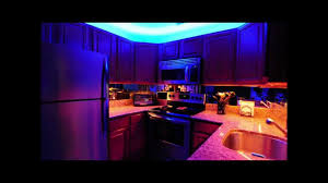 Strip Lighting For Under Kitchen Cabinets Above And Under Kitchen Cabinet Led Lighting Youtube