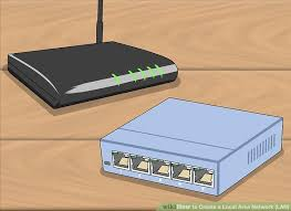Design A Home Network Connected By An Ethernet Hub How To Create A Local Area Network Lan With Pictures Wikihow