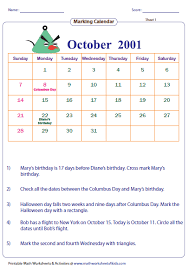 bunch ideas of calendar worksheets for grade 1 in download