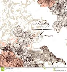 Invitation Card With Photo Wedding Invitation Card With Birds And Butterflies Stock Image