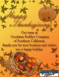 happy thanksgiving goodyear rubber company
