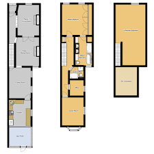 Narrow House Plans Floor Plans For Long Narrow Houses House Design Row Lot Home