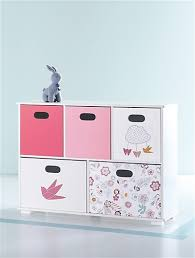 meuble de rangement chambre fille meuble de rangement bébé papilles blanc imprime vertbaudet