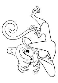 aladdin abu monkey prone position coloring animal