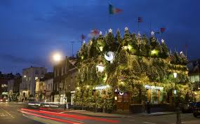 britain s most festive pub boasts 75 trees and