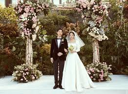 the last song wedding dress inside song joong ki and song hye kyo s wedding from limousines