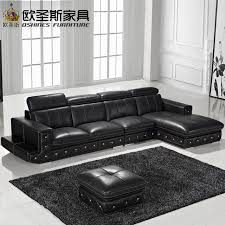 leather livingroom furniture new model l shaped modern italy genuine real leather sectional