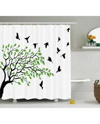 Shower Curtains With Birds Shower Curtain Slying Birds Spring Peace Print For Bathroom