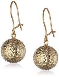 drop earrings gold 14k yellow gold faceted drop earrings jewelry