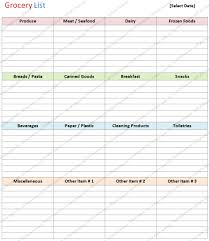 8 best images of printable grocery list template basic generic