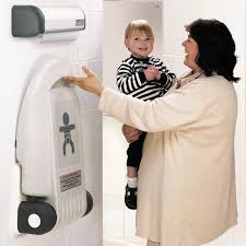 Compact Baby Changing Table Polypropylene Changing Station Wall Mounted Commercial