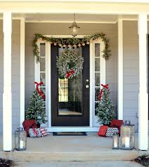 Christmas Decorations For Porch Columns by Farmhouse Christmas Front Porch With Hdcholidayhomes Tour