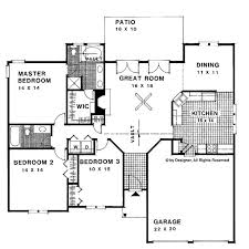 single story house plans without garage phenomenal 1500 square foot ranch house plans without garage 12 80