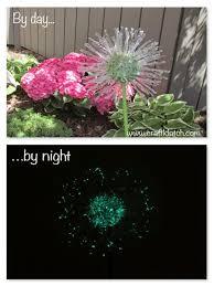 Recycled Garden Art Ideas - craft klatch diy recycled garden art dandelion inspired