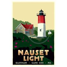Massachusetts how long would it take to travel a light year images Nauset light art print 24 quot x 36 quot travel poster massachusetts jpg