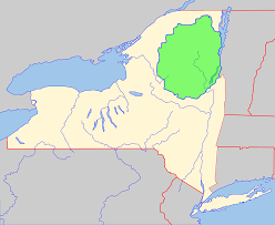 A Map Of New York by File Adirondack Park Map With Blue Line Svg Wikimedia Commons
