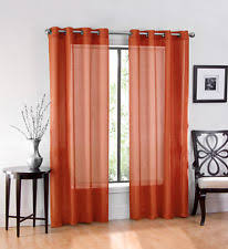 Bright Red Sheer Curtains Sheer Curtains Ebay