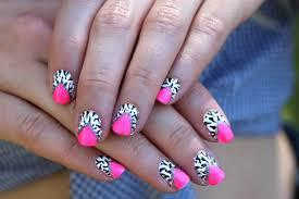 pink and white nail designs nail art